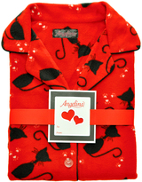 Angelina Red Cat Fleece Pajama Set - Plus Too
