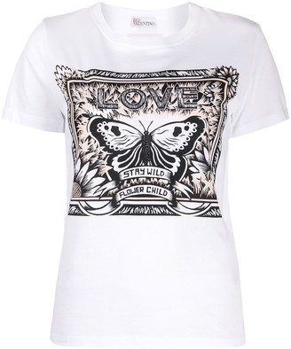 RED Valentino butterfly detail T-shirt