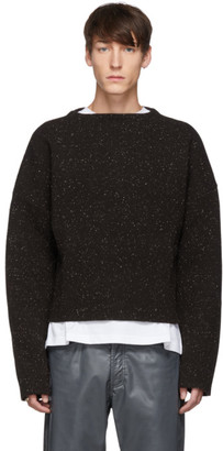 Jil Sander Brown Boat Neck Sweater
