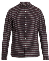 Oliver Spencer Clerkenwell Striped-cotton Shirt