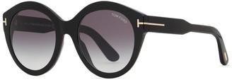 Tom Ford Rosanna Black Oversized Sunglasses