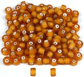 Generic Light Topaz Lampwork White Heart Glass Beads Approx 150
