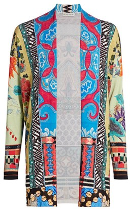Etro Mosaic Tile Embroidered Silk-Blend Cardigan