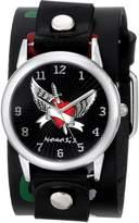 Angel Heart Nemesis Watch Nemesis Women's LFB923K Punk Rock Collection Leather Band Watch