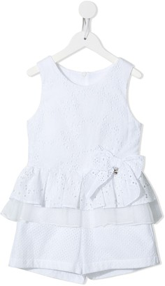 Lapin House Broderie Anglais Ruffled Trim Playsuit