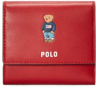 Ralph Lauren Polo Fold-Over Leather Wallet