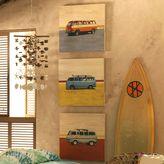"PBteen Sean Finocchio Wood Surf Art - ""Surf Vans"""
