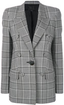 Alexander Wang check double breasted blazer
