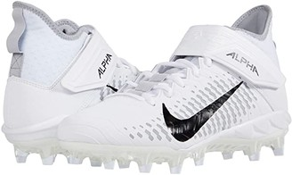 Nike Alpha Menace Pro 2 Mid (White/Black/Wolf Grey/Anthracite) Men's Cleated Shoes