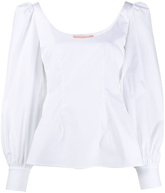 Brock Collection Puff Sleeve Blouse