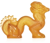 Lalique Amber Dragon Figurine