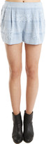 3.1 Phillip Lim Pleated Zip Shorts in Blue