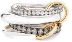 Spinelli Kilcollin Cassini Diamond, Sterling Silver & 18kt Gold Ring - Black Multi