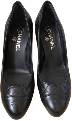 Chanel Black Leather Heels