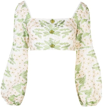 Alexis Ikala floral-embroidered top
