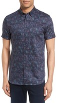 Ted Baker Men's Saraf Modern Slim Fit Print Sport Shirt