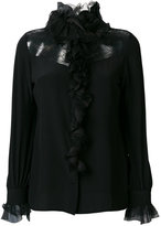 Lanvin lace ruffle trim blouse