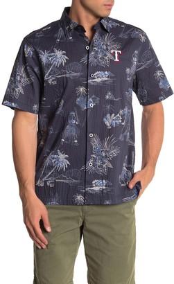 Tommy Bahama MLB(R) Seventh Inning Tropical Print Regular Fit Camp Shirt