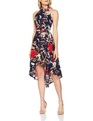 Yumi Women's Botanical Print High Low Dress