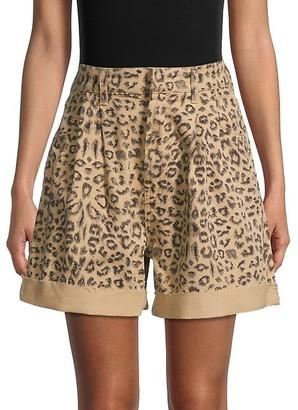 Free People Leopard-Print Shorts