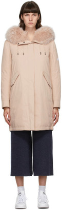 Army by Yves Salomon Yves Salomon - Army Pink Down Bachette Coat