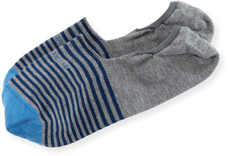 Marcoliani Milano Invisible Touch Striped No-Show Socks