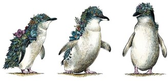 Maxwell & Williams Marini Ferlazzo Australian Families Tea Towel 50x70cm Penguin Parade