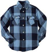 E-Land Kids Buffalo Check Shirt (Toddler/Kid) - True Blue-6