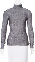 Alexander Wang Textured Bi-Color Turtleneck
