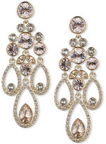 Givenchy Gold-Tone Crystal and Pavé Chandelier Earrings