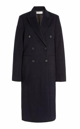 Victoria Beckham Women's Oversized Double-Breasted Wool-Cashmere Coat - Navy - Moda Operandi