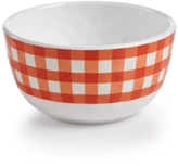 Certified International Frida Gingham Orange Melamine Cereal Bowl
