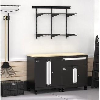 ClosetMaid ProGarage 4 Piece Cabinet & MaxLoad Shelf Set