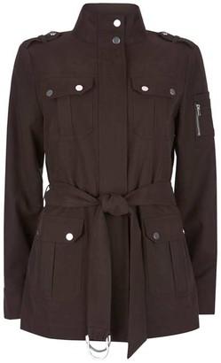 Mint Velvet Chocolate Utility Jacket