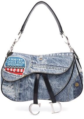 Christian Dior pre-owned denim Saddle shoulder bag