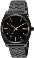 Nixon Time Teller A045957-00. Black and Rose Gold Watch (37mm. Black Metal Band/Black and Rose Gold Watch Face)