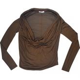 Givenchy Khaki Viscose Top