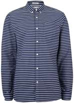 Topman Hilfiger Denim Navy Horizontal Stripe Shirt