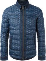 Etro denim trim padded jacket - men - Feather Down/Polyamide - S