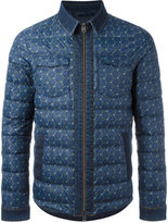 Etro denim trim padded jacket