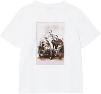 BURBERRY KIDS collage print crewneck T-shirt