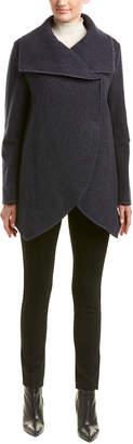Cinzia Rocca Icons Drape Wool & Cashmere-Blend Coat