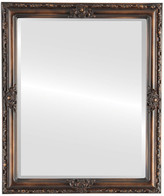 The Oval And Round Mirror Store Jefferson Framed Rectangle Mirror, Rubbed Bronze, 26x38