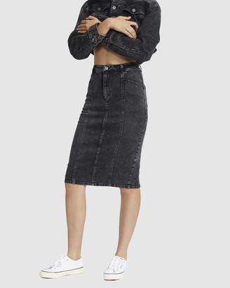 Jac & Mooki - Women's Denim skirts - Denim Pencil Skirt - Size One Size, XS at The Iconic