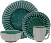 Mikasa Monterey Green Terracotta 16-Piece Dinnerware Set, Service for 4