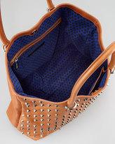 Rebecca Minkoff Spike-Stud Tote Bag, Almond