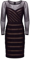 Adrianna Papell Illusion Banded Sheath Dress