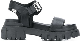 Buffalo David Bitton Buckle-Detail Sandals