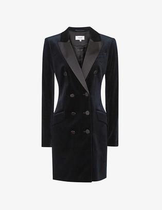 Reiss Karlie velvet tuxedo dress