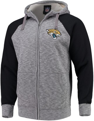 G Iii Men's G-III Sports by Carl Banks Heathered Gray/Black Jacksonville Jaguars Turning Point Sherpa Lined Full-Zip Jacket